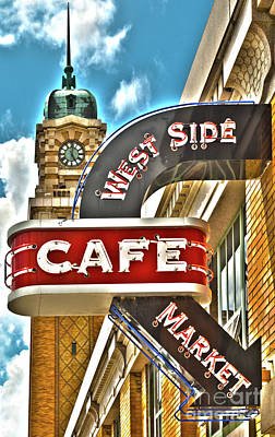Photograph - West Side Market Cafe by Peter Tompkins