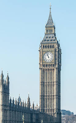 Photograph - West Side Of London Big Ben Westminster Tower A View From Westmi by Jacek Wojnarowski
