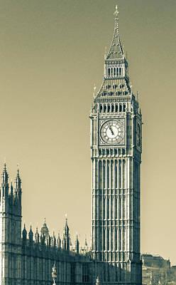 Photograph - West Side Of London Big Ben Westminster Tower B View From Westmi by Jacek Wojnarowski