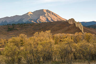 Photograph - West Spanish Peak Autumn by Aaron Spong