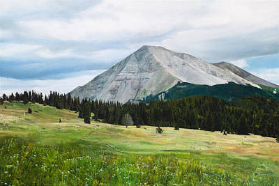 Painting - West Spanish Peak In Summer by Joshua Martin