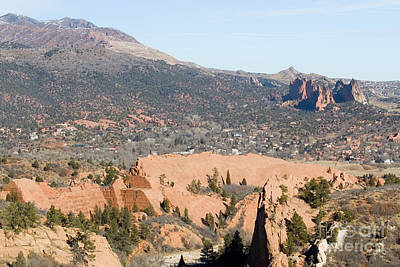 Photograph - West Springs And Distant Garden Of The Gods by Steve Krull