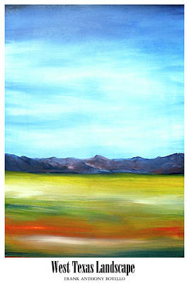 Painting - West Texas Landscape II by Frank Botello