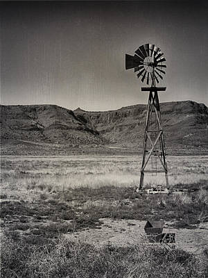 Photograph - West Texas Ranch Scene by Charles McKelroy