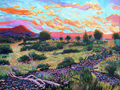 Wall Art - Painting - West Texas Scrub Brush Country by Charles Wallis