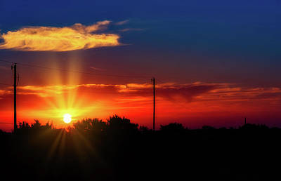 Photograph - West Texas Sunrise by Stephen Anderson