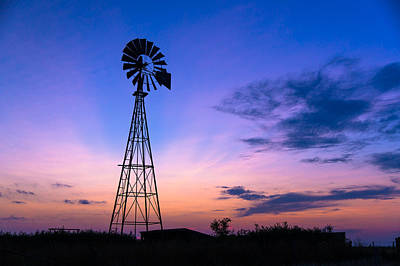 West Texas Windmill Art Print