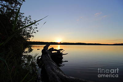 Photograph - West Thompson Lake Summer Sunset  by Neal Eslinger