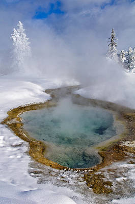 Photograph - West Thumb Geyser Basin by Gary Lengyel