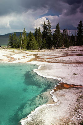 Photograph - West Thumb Geyser Pool by Dawn Romine