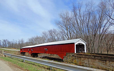 Photograph - West Union Covered Bridge 2 by Tina M Wenger