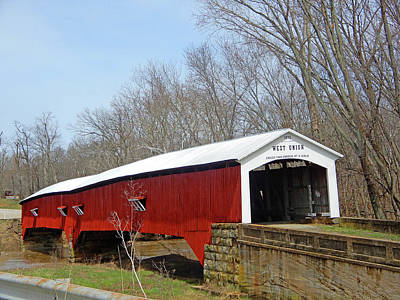 Photograph - West Union Covered Bridge 3 by Tina M Wenger