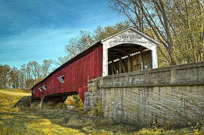 Photograph - West Union Covered Bridge by Jack R Perry