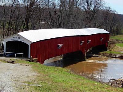 Photograph - West Union Covered Bridge by Tina M Wenger