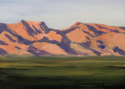 Painting - West Valley Mountain by Bill Tomsa