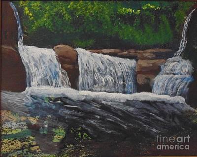 Painting - West Virgina Water Falls by Joe Hagarty