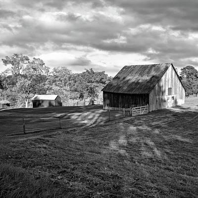 Fall Photograph - West Virginia Barn - 3 Bw by Steve Harrington