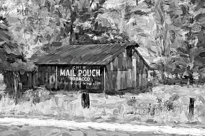 Mail Pouch Photograph - West Virginia Barn - Paint 2 Bw by Steve Harrington
