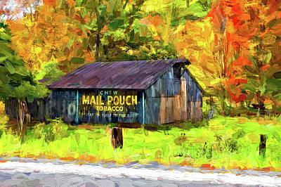 Mail Pouch Photograph - West Virginia Barn - Paint 2 by Steve Harrington