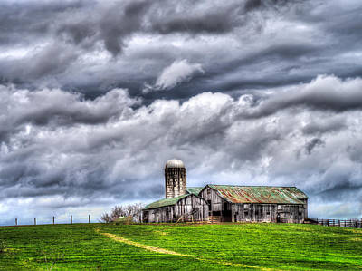 Print featuring the photograph West Virginia Barn by Steve Zimic