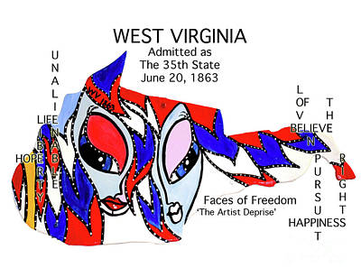 Painting - West Virginia by Deprise Brescia
