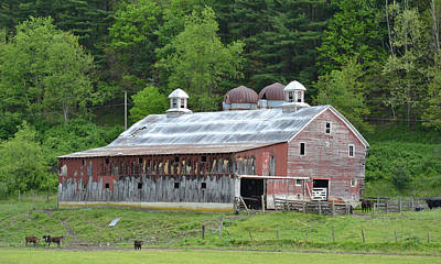 Photograph - West Virginia Farm Barn by rd Erickson