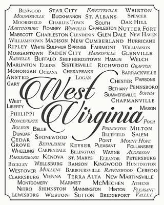 Huntington Digital Art - West Virginia by Finlay McNevin