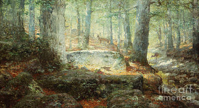 Glades Painting - West Virginia Forest, 1905 by William Robinson Leigh