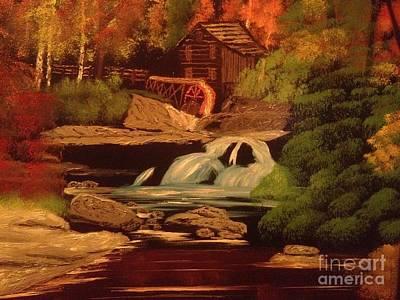 West Virginia Grist Mill Art Print by Tim Blankenship