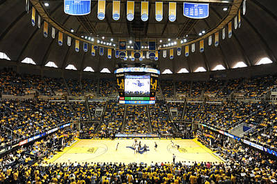 West Virginia Photograph - West Virginia Mountaineers Wvu Coliseum by Replay Photos