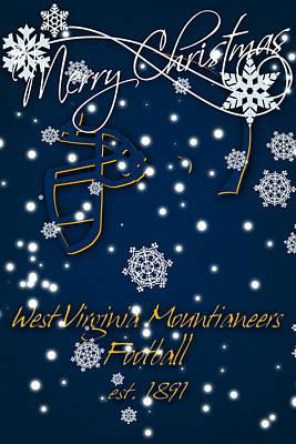 West Virginia University Photograph - West Virginia Mountianeers Christmas Card 2 by Joe Hamilton