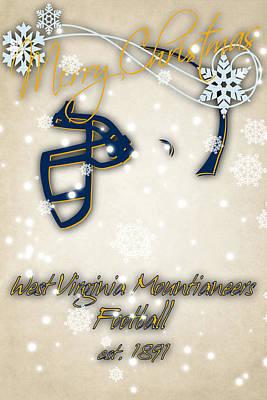 West Virginia University Photograph - West Virginia Mountianeers Christmas Card by Joe Hamilton