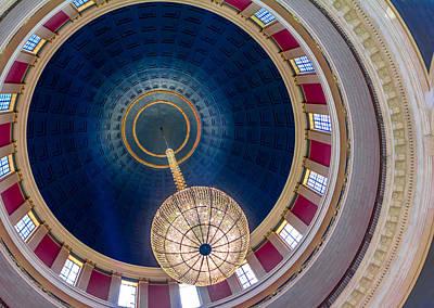 Photograph - West Virginia Rotunda Chandelier Cap163 by Mary Almond