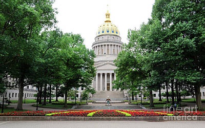 Photograph - West Virginia State Capitol  2429 by Jack Schultz