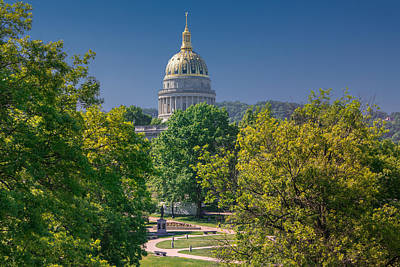 Photograph - West Virginia State Capitol Cap162 by Mary Almond