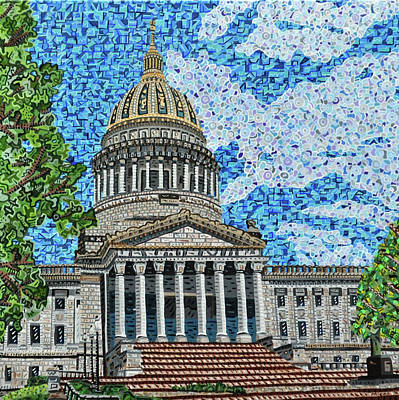 Painting - West Virginia State Capitol by Micah Mullen
