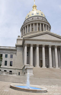 West Virginia State Capitol Art Print