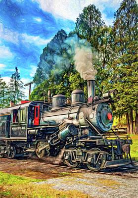 West Virginia Steam Engine - Paint Art Print by Steve Harrington