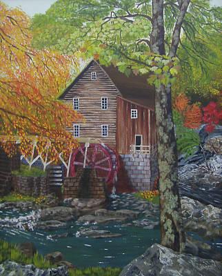Grist Mill Painting - West Virginia Wonder by Cathy Shepard