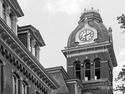 Woodburn Hall Photograph - West Viriginia University Clock Tower by University Icons
