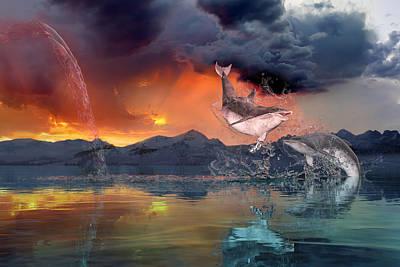 Surrealism Digital Art - West World by Betsy Knapp