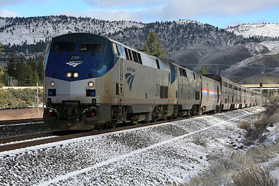 Photograph - Westbound Amtrak by Donna Kennedy
