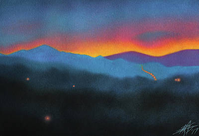 Painting - Westbound At Dawn by Robin Street-Morris