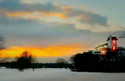 Photograph - Westchester Country Club At Sundown by Diana Angstadt