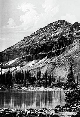 Mountins Photograph - Wester Alpine Mountain Lake by Douglas Barnett