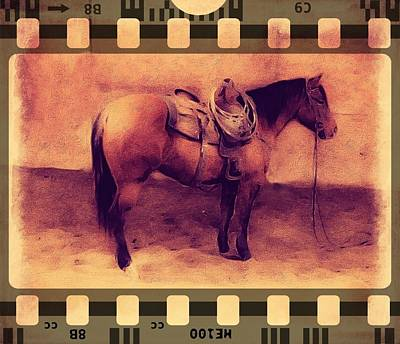 Photograph - Western Movie Cowpony Film by Michele Carter