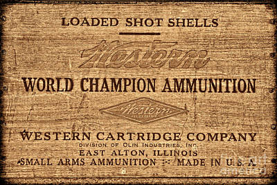 Photograph - Western Ammunition Box by American West Legend By Olivier Le Queinec