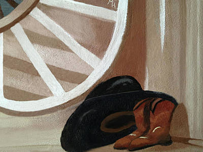 Painting - Western Art Work For Luke by Margaret Harmon