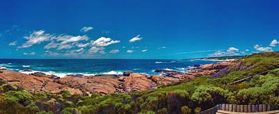 Print featuring the photograph Western Australia Beach Panorama Margaret River by David Zanzinger