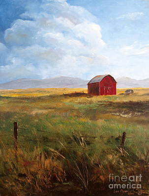 Painting - Western Barn by Lee Piper